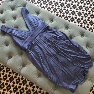 BCBGMaxAzria Women's Pleated front deep V dress